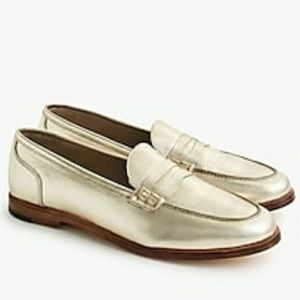 Gold Jcrew loafers